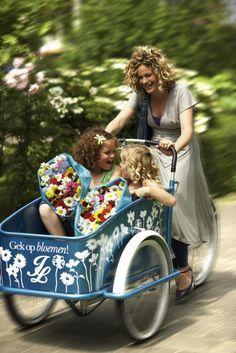 """Noviteiten: Nazomeractie """"Gek op bloemen"""" pakt uit met luxe bakfiets en gratis bloemen"""