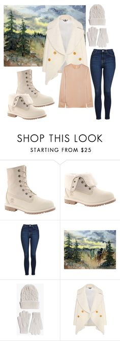 """Untitled #89"" by greent00 ❤ liked on Polyvore featuring Timberland, Topshop, Boohoo, Burberry and Elizabeth and James"