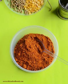 Idli sambar powder recipe - How to prepare idli sambar podi recipe like hotel / restaurant style South Indian Breakfast Recipes, Indian Dessert Recipes, Masala Powder Recipe, Masala Recipe, Indian Soup, Indian Dishes, Curry Recipes, Snack Recipes, Cooking Recipes