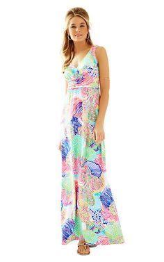 384d7a3a5eb Lilly Pulitzer Sloane V-Neck Maxi Dress Tank Dress