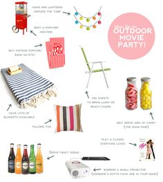 How to for outdoor movie party-must do this summer in your backyard - for more outdoor movie tips visit www.pinterest.com/soutdoorcinema