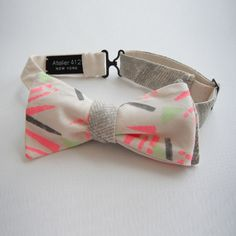 Abstract Graphic Doublesided Bow Tie by atelier412newyork on Etsy