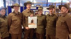 Cast in uniform, ready for the first night, May 19th 2015
