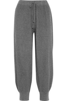 Cashmere trousers for post pudding lounging