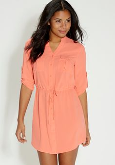 shirtdress with button down front (original price, $39.00) available at #Maurices