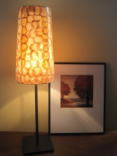 COFFEE FILTER ART  Table Lamp Table Light Paper Lamp by Lampada, $60.00