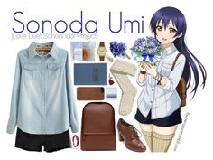 """""""Sonoda Umi [Love Live! School Idol Project]"""" by anggieputeri ❤ liked on Polyvore featuring Umi, Abercrombie & Fitch, H&M, Zara, Tommy Hilfiger, Chan Luu, Void, Incase and Tanner Goods"""