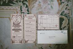 winter wedding invitation, vintage