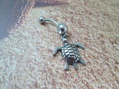 belly button jewelry larger  sea turtle 1 body jewelry by sindys