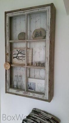 Repurposed Items, Repurposed Furniture, Rustic Furniture, Diy Furniture, Apartamento Shabby Chic, Muebles Shabby Chic, Old Window Crafts, Old Window Projects, Vintage Windows