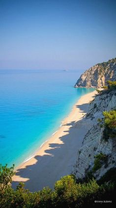 Nadire Atas on Beautiful Beaches To Visit Egremni Beach, Lefkada Island, Ionian Sea, Greece Places Around The World, Travel Around The World, Around The Worlds, Dream Vacations, Vacation Spots, Places To Travel, Places To See, Belle Image Nature, Voyage Europe