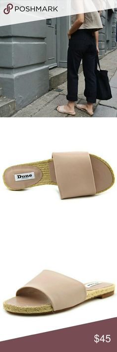 Dune London leather mules / slides Size 36. Gorgeous muted pastel rose color. Authentic Dune London. Leather upper, espadrille bottom. Price is firm unless bundled. Tagged as Zara because Dune London is not listed Zara Shoes Sandals