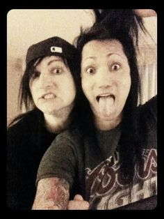 Jinxx and Ashley Purdy.....reminds me of those 'no makeup' pictures from teenage girls