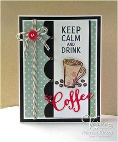 Card by Marisa Ritzen using Coffee, Cuppa Joe Die Set and Coffee Word Die.