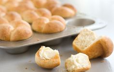 Buttermilk Rolls // These rich and fluffy rolls make a great accompaniment to any dinner and are the perfect easy bread for beginning bakers. Make large pull apart rolls or individual cloverleaf rolls with the same dough.