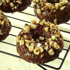Connoisseurus Veg: Chocolate Hazelnut Donuts...use King Arthur glutenfree flour in place of the flour and add 1 teaspoon of xantham gum.  Happy donut day.