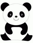 Panda party on pinterest panda bears pandas and panda for Panda bear cake template