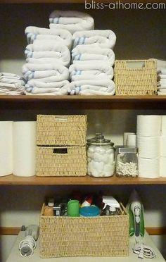 Organizing Your Linen Closet - 20 DIY Clothes Organization Ideas