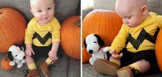 Disfraces caseros de Carnaval para bebés: Charlie Brown #Carnaval #diy #snoopy