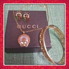 Fashion Jewelry Set Made of High quality Stainless Steel. Won't rust and tarnish. 14k gold plated! Very beautiful Make me an offerThank you so much Includes earrings,necklace and bracelet  Jewelry