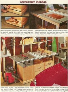 #1268 Table Saw Workstation Plans - Router Table Saw