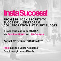 One of the most common questions I get from publicists and brands is how to handle Instagram collaborations - how to find the right partners, what to expect/ask for, how to measure success, and just how much it all costs. For answers based on what's happening right now in the space,I've teamed up with Sharon Herzog, Founder of Fashion PR... More