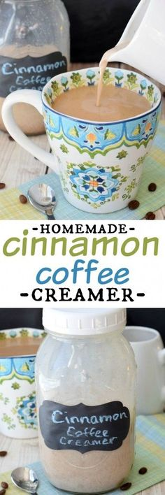 Homemade Cinnamon Coffee Creamer: so easy to make and you only need a couple of ingredients!