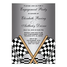 Discount Deals Checkered Flag Racing Fan Wedding Engagement Party 5x7 Paper Invitation Card so please read the important details before your purchasing anyway here is the best buy