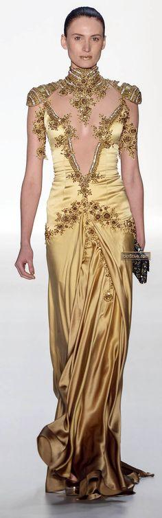 Samuel Cirnansck Sao Paulo Fashion Week Madrid - Fall Winter 2013 (I don't like gold, but I like this...)
