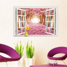 9 Styles 3020 Removable Beach Sea Window Scenery Wall Sticker home Decor Decals Mural Decal Exotic Beach View Cheap Wall Stickers, Removable Wall Stickers, Wall Stickers Home Decor, Wall Stickers Murals, Vinyl Wall Decals, Wall Art Decor, Vinyl Art, 3d Butterfly Wall Decor, Art Pour Salon