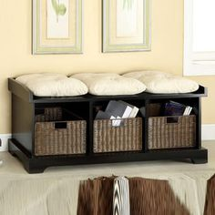 homcom entryway shoe storage organizer bench brown basements pinterest