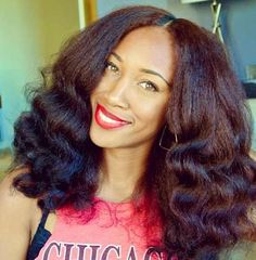 WOAH goregous natural Black hair that looks like its been air dried in this wavy style #hairstyle