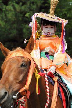 A child on a horse by Teruhide Tomori (Gion Matsuri), via Flickr