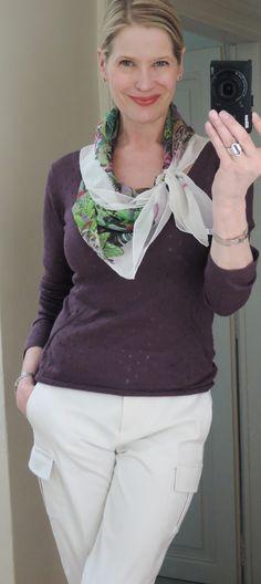 MaiTai's Picture Book: Capsule wardrobe #151-love the scarf tie