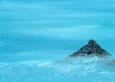 "Ref.08 Oleo Impresionista ""Isla Misteriosa Intraterrena"" de Tomas Morilla Massieu URL http://myworld.ebay.es/morilla_massieu"