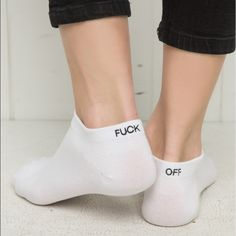 Brandy Melville F*** Off socks New with tag Brandy Melville Accessories Hosiery & Socks
