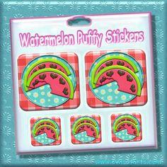Watermelon Puffy Stickers