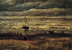 VINCENT VAN GOGH Beach at Scheveningen in Stormy Weather August 1882, The Hague Oil on canvas on cardboard, 35 x 51 cm Stedelijk Museum, Amsterdam