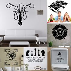 Multi-Size Home Decoration Wall Stickers //Price: $11.99 & FREE Shipping //     #gameofthronesfanart