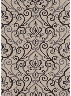 This Francesca Ivory Grey Collection rug (FC-18) is manufactured by Loloi. The hand-hooked Francesca Collection has fresh transitional floral and paisley designs colored in a saturated palette that will resonate with traditional and transitional settings.