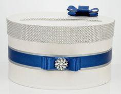 Kaart vak / bruiloft Box / bruiloft spaarpot Navy door DiamondDecor