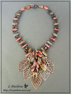 Necklace | Elena Pavlova. 'The wind, fall in love with autumn'