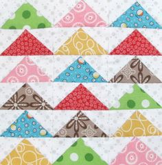 """The Quilty Barn Along - Barn 12 and Easy Flying Geese and """"Furrows"""" Block Tutorial 