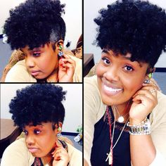 Lovely style shared by Indie - To learn how to grow your hair longer click here - http://blackhair.cc/1jSY2ux