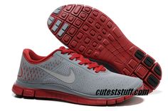 $54.29   Mens Nike Free 4.0 V2 Gym Red Reflect Silver Stealth Shoes