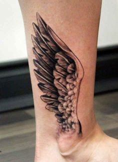 EngelflÜgel Leg Tattoo Motive   #Tattoo, #Tattooed, #Tattoos