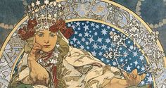 Love this cropped version of a Mucha piece