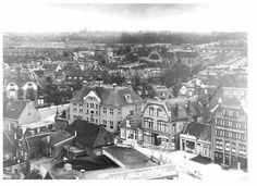 Vanaf de Watertoren: op de Schrans. 1935.    (r.tamminga).Leeuwarden