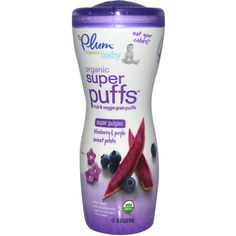 Plum Organics, Super Puffs, Fruit