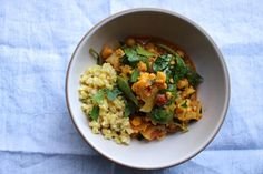 curried cauliflower and chickpea stew